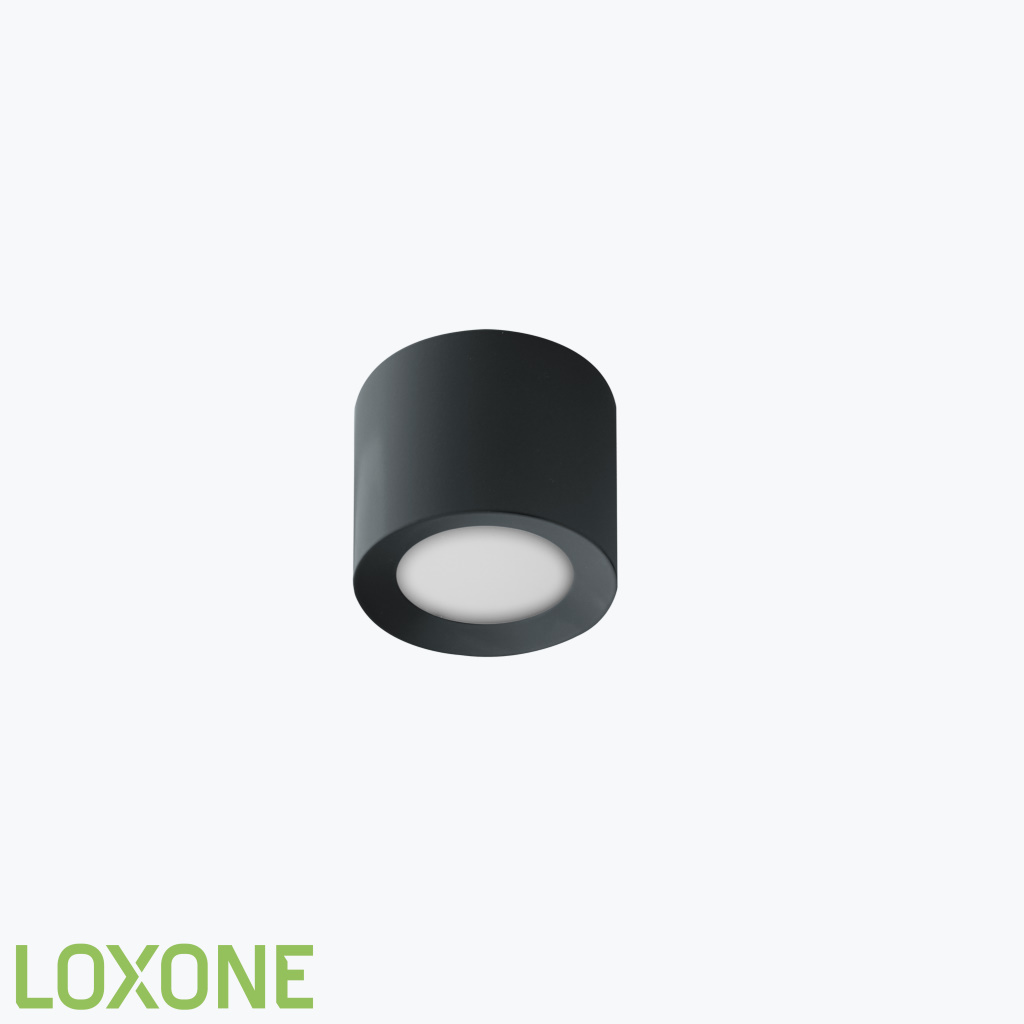 Product: 100278 - Loxone LED Opbouwspot RGBW PWM Antraciet. Verkocht door Keysoft-Solutions - Hoofdafbeelding