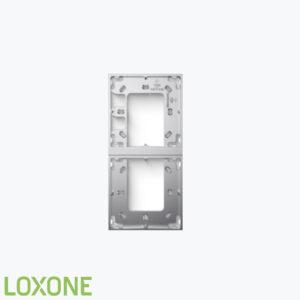 Product: 100489 - Loxone Montageframe Dubbel Zilver. Verkocht door Keysoft-Solutions - Hoofdafbeelding